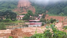 The station of the Defense Economics Division 337 where a landslide has just happened