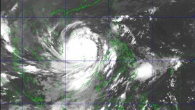 Satellite image shows storm Molave
