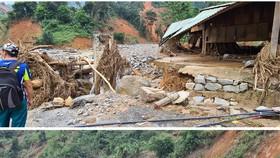 Phuoc Loc Commune chaos after storm, landside, flashflood