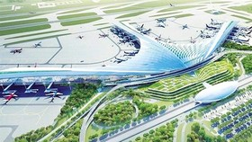 A rendering of the Long Thanh International Airport plan in the southern province of Dong Nai. Photo courtesy of Airports Corporation of Vietnam