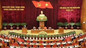 A view of the 14th session of the 12th Party Central Committee that opened in Hanoi on December 14 (Photo: VNA)