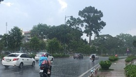 Torrential rain pours down on Ho Chi Minh City