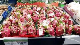 Vietnamese dragon fruit rated five stars in Australia