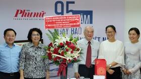 Lãnh đạo TPHCM thăm các cơ quan báo chí nhân Ngày Báo chí Cách mạng Việt Nam