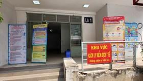 Khu cách ly tập trung đặt tại Lô 1, Khu A, chung cư Phú Thọ, phường 15, quận 11. Ảnh: HOÀNG HÙNG