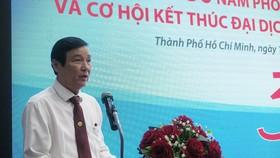 Bác sĩ Nguyễn Hữu Hưng, Phó Giám đốc Sở Y tế TPHCM phát biểu tại hội nghị
