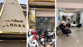 Viện thẩm mỹ Janhee và Nha khoa Janhee trên cùng một địa chỉ cung cấp dịch vụ chăm sóc da và phẫu thuật thẩm mỹ không phép