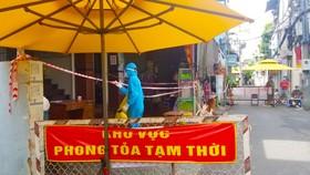 Một điểm cách ly trên địa bàn quận Tân Bình, TPHCM