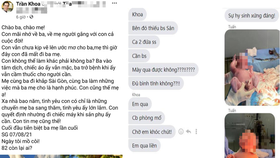Ảnh chụp màn hình bài viết được đăng trên tài khoản có tên Trần Khoa