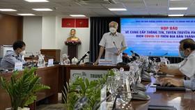 Đồng chí Phan Nguyễn Như Khuê, Trưởng Ban Tuyên giáo Thành ủy TPHCM phát biểu tại họp báo