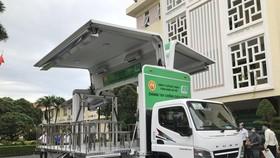 Xe tiêm chủng lưu động Công ty cổ phần chế biến gỗ Đức Thành trao tặng quận Gò Vấp