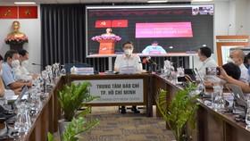 Phó Chủ tịch UBND TPHCM Dương Anh Đức chủ trì buổi họp báo tại điểm cầu Trung tâm báo chí