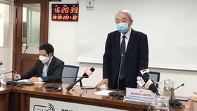 Tổng Giám đốc Acecook Việt Nam Kajiwara Junichi tại buổi họp báo
