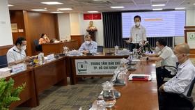 Đồng chí Phạm Đức Hải phát biểu tại buổi họp báo