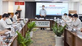Phó Trưởng Ban Chỉ đạo phòng chống dịch Covid-19 TPHCM Phạm Đức Hải thông tin tại buổi họPhó Trưởng Ban Chỉ đạo phòng chống dịch Covid-19 TPHCM Phạm Đức Hải thông tin tại buổi họp báo chiều 11-10p báo chiều 11-10