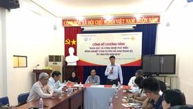 Buổi họp báo công bố Chương trình