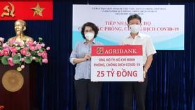 Agribank ủng hộ TPHCM 25 tỷ đồng phòng, chống dịch Covid-19