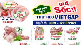 Thịt heo VietGAP Sagrifood giảm giá sốc