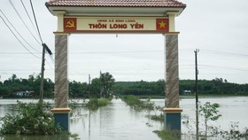 Nước đã rút bớt tại một số khu dân cư