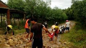 khắc phục hậu quả mưa lũ