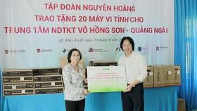 Tập đoàn Nguyễn Hoàng trao tặng 20 máy vi tính cho Trung tâm nuôi dạy trẻ khuyết tật Võ Hồng Sơn