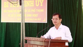 Bí thư Tỉnh ủy Quảng Ngãi đối thoại với nhân dân Phổ Thạnh về xử lý rác thải
