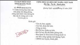 Học sinh Quảng Ngãi tiếp tục nghỉ học đến ngày 16-2