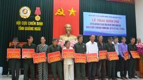 Hội Cựu chiến binh tỉnh Quảng Ngãi trao tặng nhà cho gia đình chính sách