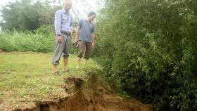 Quảng Ngãi: Sạt lở bờ sông Trà Khúc, đe dọa cuộc sống người dân
