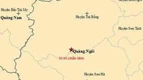 Liên tiếp xảy ra 2 trận động đất tại miền núi huyện Trà Bồng, Quảng Ngãi