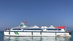 Tàu cao tốc đi từ cảng Sa Kỳ ra đảo Lý Sơn