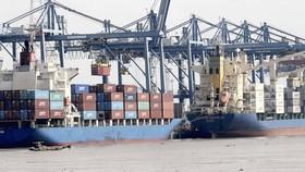 Bốc dỡ hàng tại Cảng Cát Lái