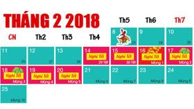 Học sinh nghỉ Tết Nguyên đán 2018 tối đa 16 ngày