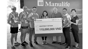 Manulife Việt Nam đóng góp gần 700 triệu cho tổ chức nhịp tim Việt Nam