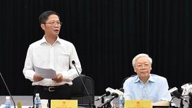 Tổng Bí thư Nguyễn Phú Trọng làm việc tại Bộ Công thương