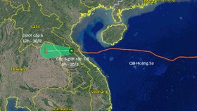 Bão số 4 suy yếu thành áp thấp nhiệt đới trên đất liền