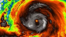Cơ quan Khí tượng Nhật Bản dự báo siêu bão Hagibis sẽ đổ bộ cấp mạnh nhất. Ảnh: NASA