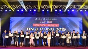 Công bố và vinh danh Top 100 Sản phẩm – Dịch vụ Tin & Dùng 2019