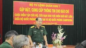Diễn tập cứu hộ, cứu nạn vùng biên giới Việt Nam - Campuchia