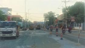 Công trình nâng cấp mở rộng đường Tô Ký đang vào giai đoạn nước rút