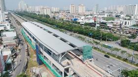 Nhà ga của tuyến metro Bến Thành - Suối Tiên. Ảnh: CAO THĂNG