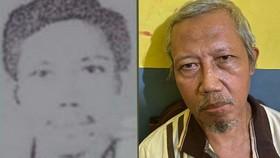 Zulkarnaen lúc còn trẻ và vào thời điểm bị bắt mới đây. Ảnh: Cảnh sát Quốc gia Indonesia