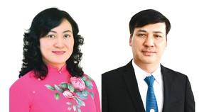 Bà Phan Thị Thắng và ông Lê Hòa Bình vừa được Thủ tướng Chính phủ phê chuẩn kết quả bầu bổ sung chức vụ Phó Chủ tịch UBND TPHCM nhiệm kỳ 2016-2021. Ảnh: VIỆT DŨNG