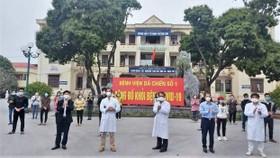 Bệnh nhân tại Bệnh viện Dã chiến số 1 ở TP Chí Linh, Hải Dương được công bố khỏi Covid-19