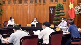 Thủ tướng Chính phủ Phạm Minh Chính làm việc với Bộ Thông tin và Truyền thông, chiều 11-5-2021. Ảnh: VGP