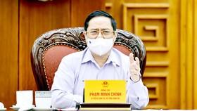Thủ tướng Phạm Minh Chính phát biểu tại buổi làm việc với Bộ Tư pháp