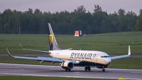 Máy bay của Hãng hàng không Ryanair (Ireland). Ảnh minh họa: AP