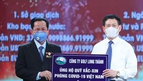 Ông Lê Văn Kiểm Chủ tịch Golf Long Thành ủng hộ 500 tỷ đồng vào Quỹ vaccine phòng chống dịch Covid-19  