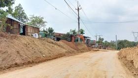 Dự án cải tạo, nâng cấp các đoạn xung yếu trên Quốc lộ 24 dài hơn 31km với mức đầu tư 840 tỷ đồng, do Sở GTVT tỉnh Kon Tum làm chủ đầu tư. Ảnh chụp tháng 4-2021