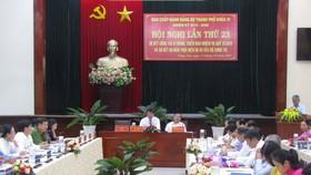 Quang cảnh Hội nghị lần thứ 23 của BCH Đảng bộ TP Vũng Tàu